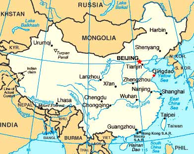 china north korea map. North Korea 1416 km,